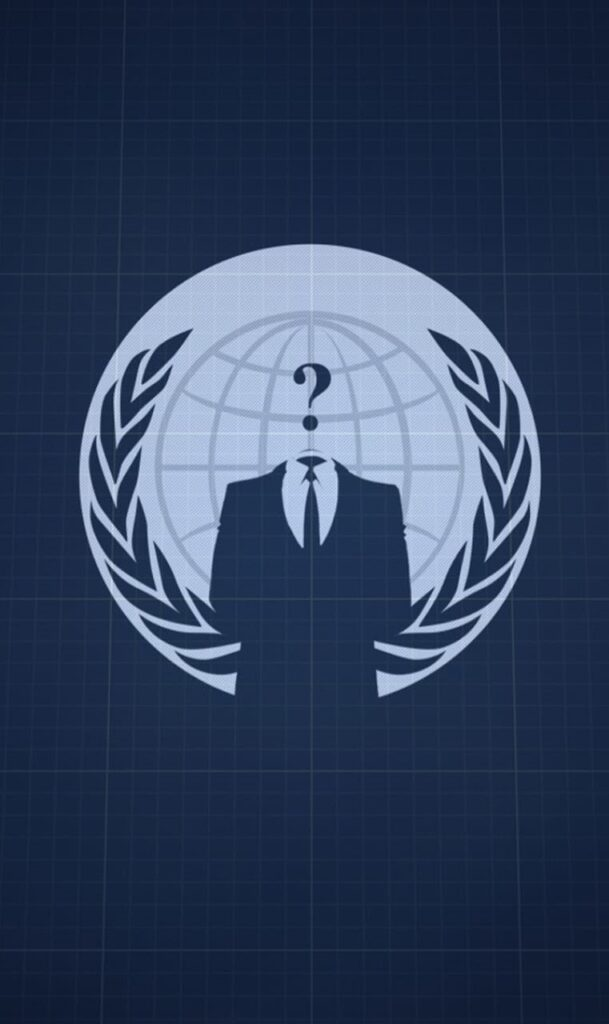Anonymous iPhone 8 Wallpaper