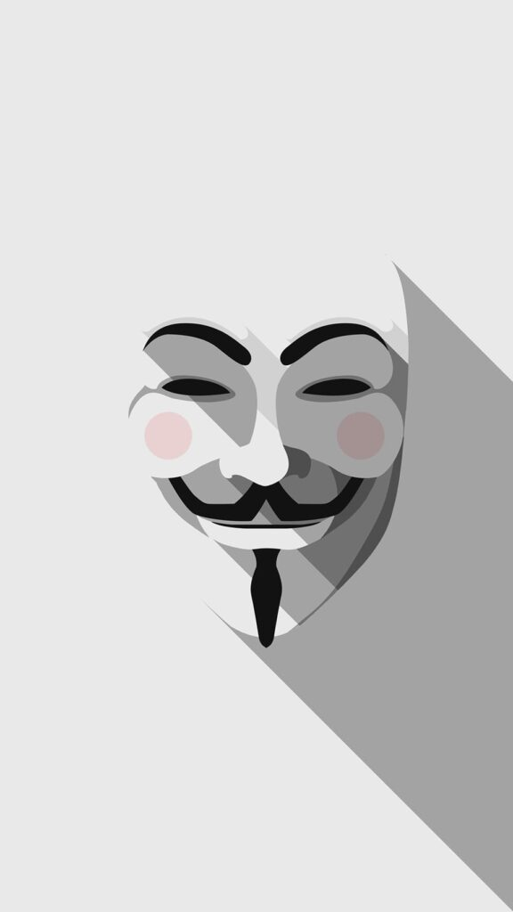 Anonymous iPhone X Wallpaper