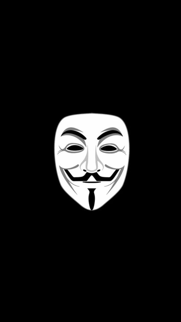 Anonymous mask iPhone 11 Wallpaper