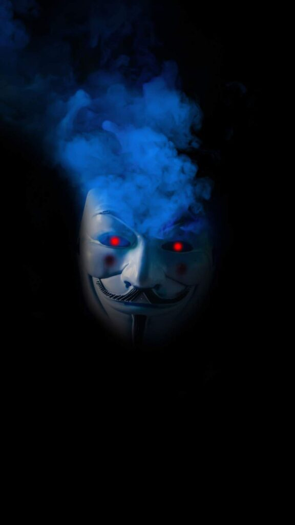 Anonymous mask iPhone 12 Wallpaper