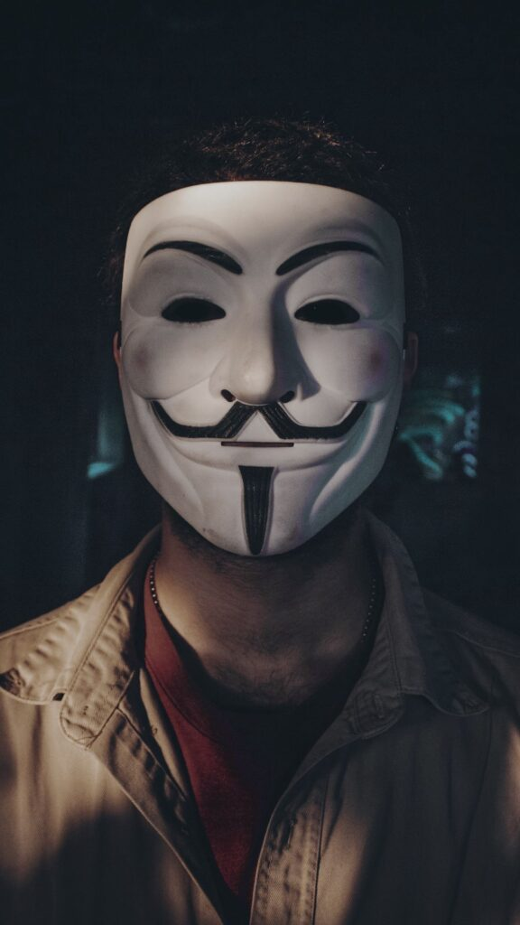 Anonymous mask iPhone 6 Wallpaper