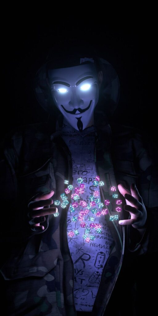 Anonymous mask iPhone 8 Wallpaper