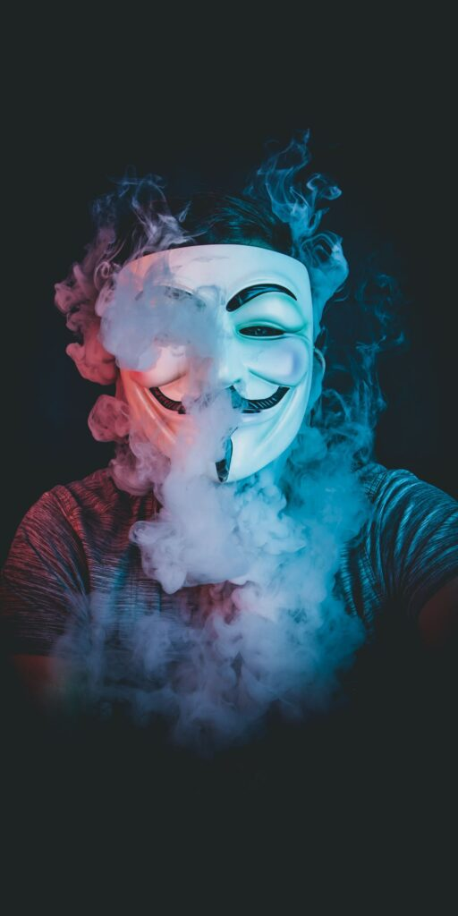 Anonymous mask iPhone Wallpaper 4k