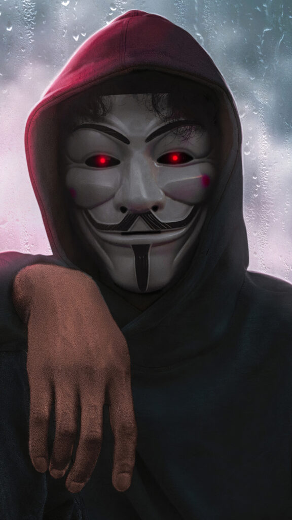 Anonymous mask iPhone Wallpaper