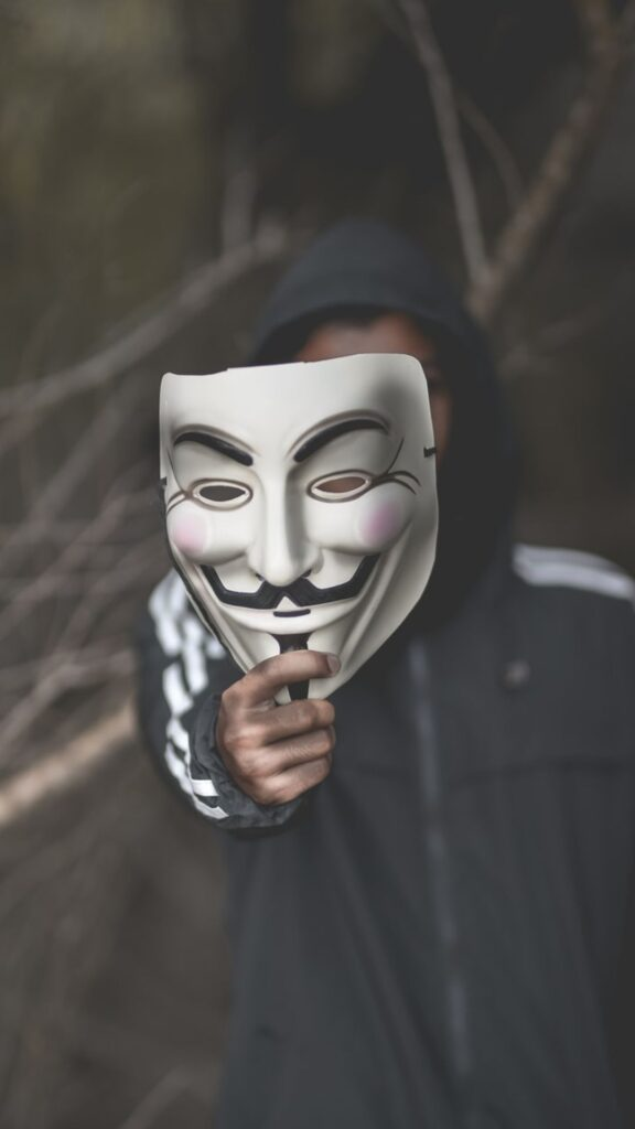 Anonymous mask iPhone Wallpaper HD