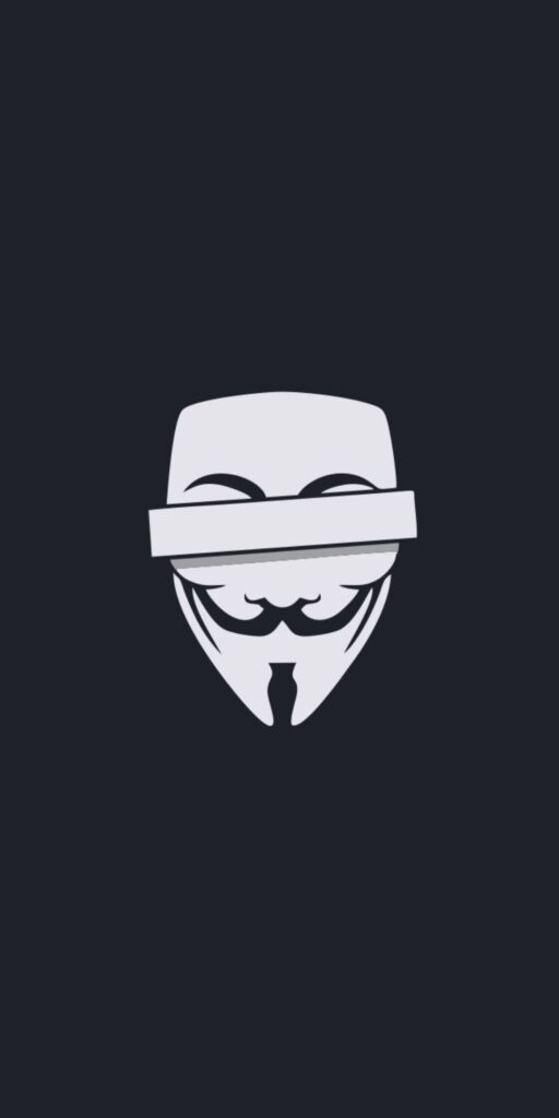 Anonymous mask iPhone X Wallpaper