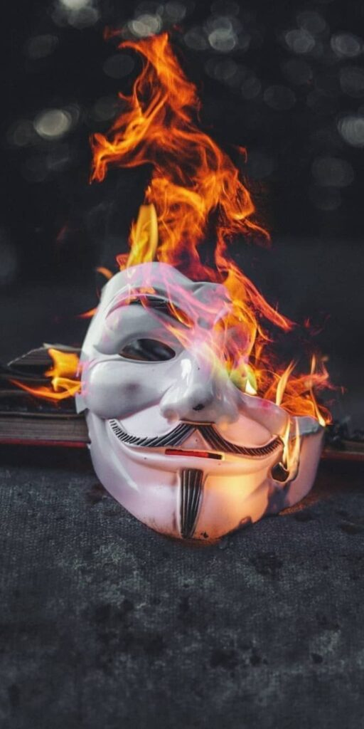 Anonymous mask iPhone XR Wallpaper