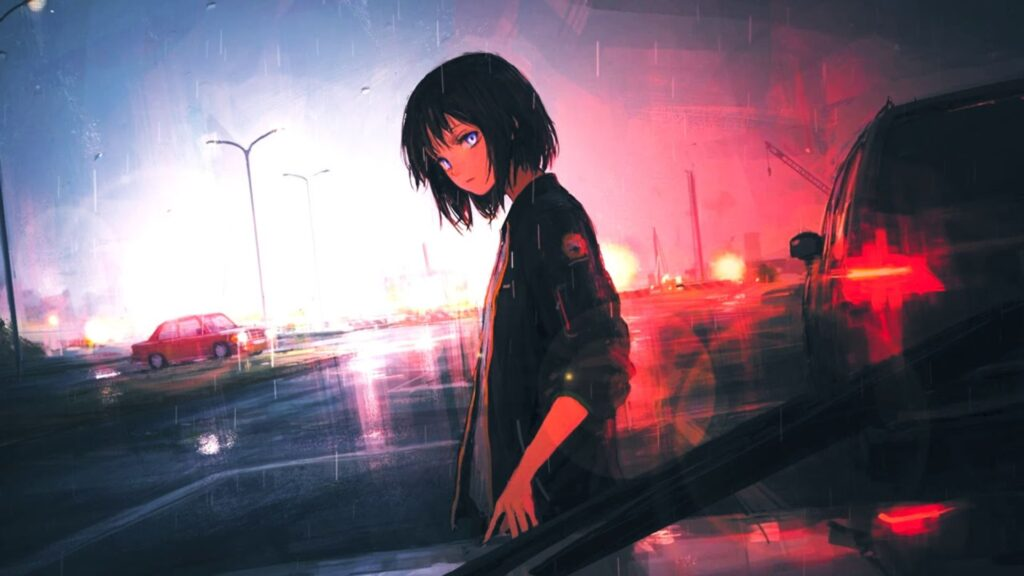 Sad Anime Girl Background Pictures