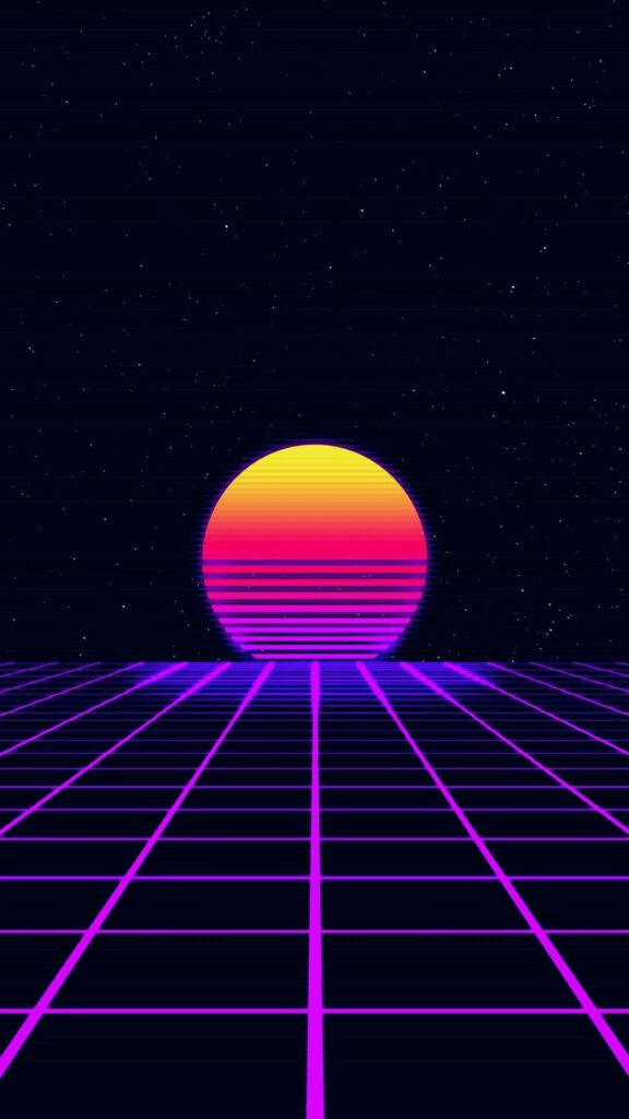 Synthwave Wallpaper iPhone 8