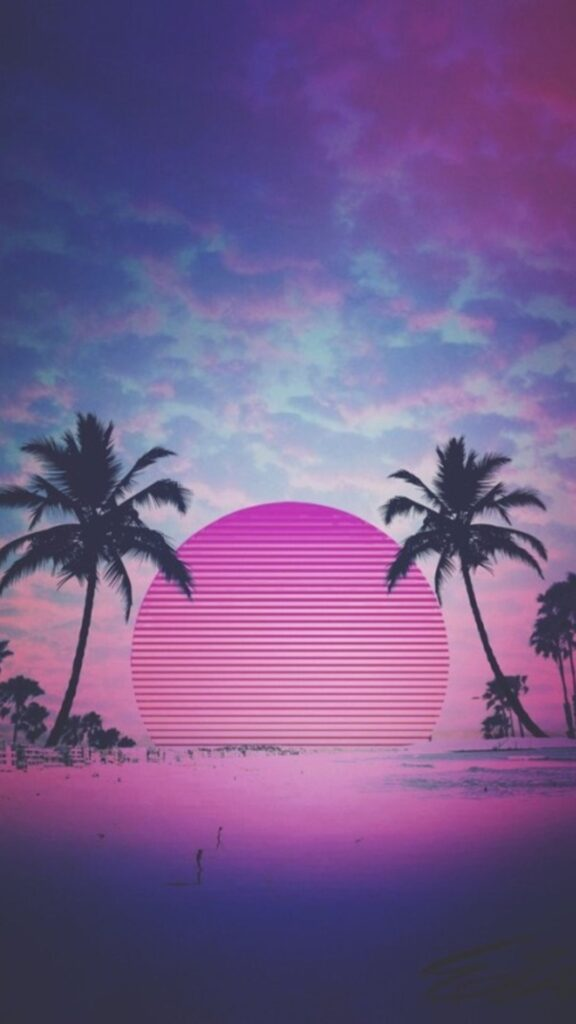 Synthwave Wallpaper iPhone X
